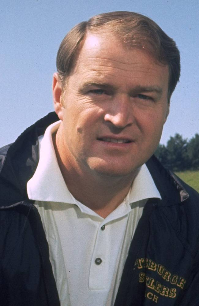 File- This 1971 file photo shows Chuck Noll, head coach of the Pittsburgh Steelers.  Noll, the Hall of Fame coach who won a record four Super Bowl titles with the Pittsburgh Steelers, died Friday, June 13, 2014, at his home. He was 82. The Allegheny County Medical Examiner said Noll died of natural causes