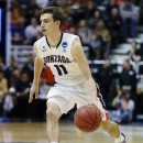 Gonzaga's David Stockton brings the ball upcourt against Southern University in the second half during a second-round game in the NCAA college basketball tournament in Salt Lake City Thursday, March 21, 2013. Gonzaga won 64-58. (AP Photo/George Frey)