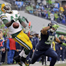 Seattle Seahawks' K.J. Wright (50) breaks up a pass intended for Green Bay Packers' James Starks during the second half of the NFL football NFC Championship game Sunday, Jan. 18, 2015, in Seattle The Associated Press