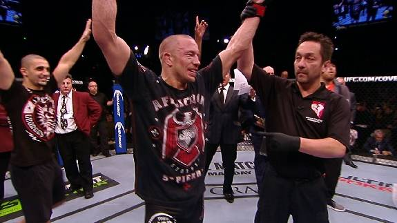 UFC 167: Georges St-Pierre Post-Fight Interview