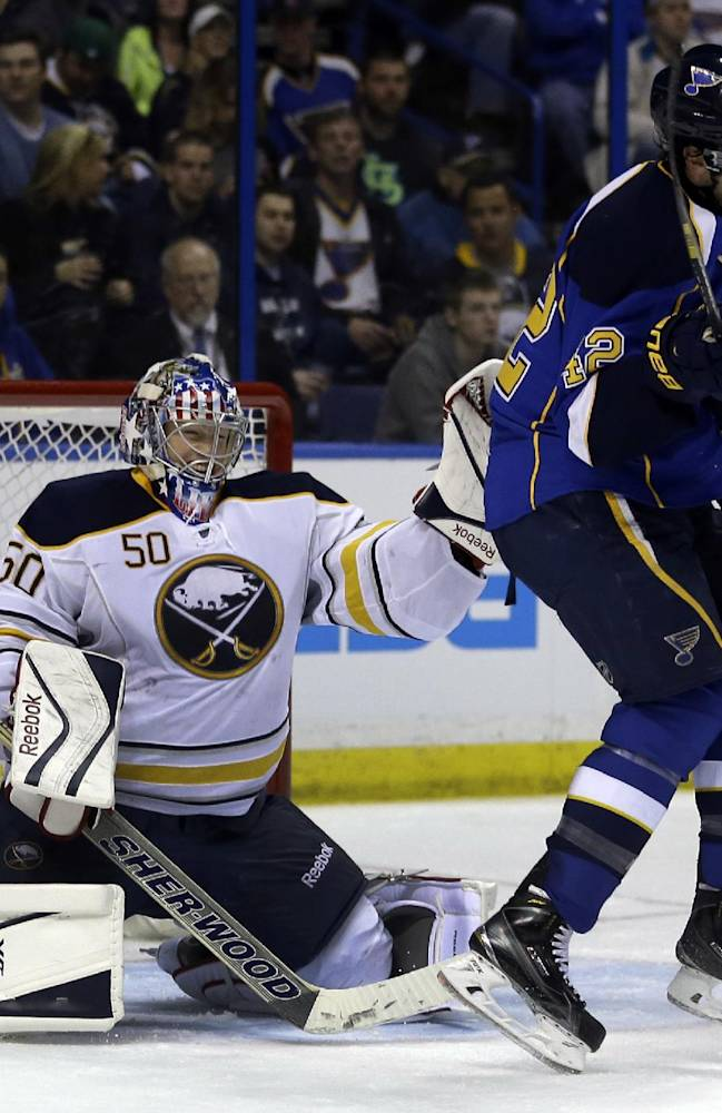 Elliott helps Blues defeat Sabres