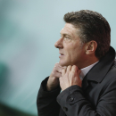 FILE -- In this Nov. 9 , 2014 file photo Inter Milan coach Walter Mazzarri attends a Serie A soccer match between Inter Milan and Hellas verona, at the San Siro stadium in Milan, Italy. Inter Milan fired coach Mazzarri on Friday, Nov. 14, 2014, after a r