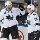 Marleau, Thornton lift Sharks over slumping Oilers The Associated Press