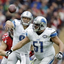 Detroit Lions quarterback Matthew Stafford (9) throws an incomplete pass in the second half of the NFL football game against the Atlanta Falcons at Wembley Stadium, London, Sunday, Oct. 26, 2014 The Associated Press