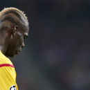 Liverpool's Mario Balotelli looks down during the Champions League Group B soccer match between FC Basel 1893 and Liverpool FC, at the St. Jakob-Park stadium in Basel, Switzerland, Wednesday, Oct. 1, 2014