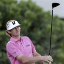 Brandt Snedeker tees off on the first hole during the third and final round at the Tournament of Champions golf tournament, Tuesday, Jan. 8, 2013, in Kapalua, Hawaii.  (AP Photo/Elaine Thompson)