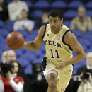 Georgia Tech's Chris Bolden (11) brings the ball up the court against Boston College during the first half of an NCAA college basketball game at the Atlantic Coast Conference tournament in Greensboro, N.C., Thursday, March 14, 2013. (AP Photo/Bob Leverone)