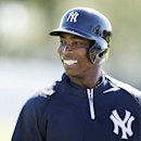 New York Yankees left fielder Alfonso Soriano waits to hit in the batting cage before an exhibition baseball game against the Philadelphia Phillies Saturday, March 1, 2014, in Tampa, Fla The Associated Press