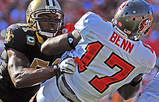 Jonathan Vilma will miss the entire 2012 season if his suspension stands. (Getty)