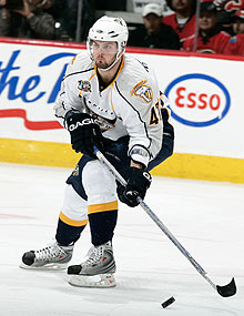 Alexander Radulov will put on a Predators jersey for the first time since 2008.