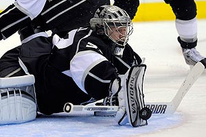 With Jonathan Quick in net and a balanced offensive effort, the Kings continue to surprise. (AP)