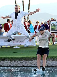 Sun Young Yoo took the plunge into Poppie's Pond after beating I.K. Kim in a playoff for the 2012 Kraft Nabisco title.