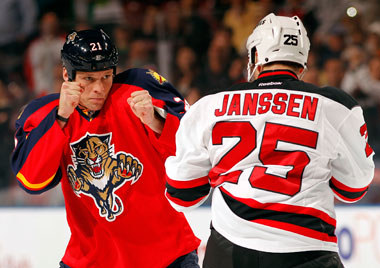 New Jersey Devils forward Cam Janssen believes removing fighting from junior hockey could hurt future NHLers.