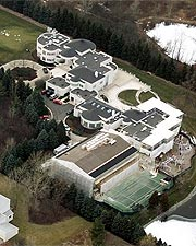 Michael Jordan's sprawling estate along Lake Michigan has more than 56,000 square feet of living space.