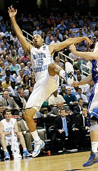 Kendall Marshall broke his right wrist when he fell on a play vs. Creighton.