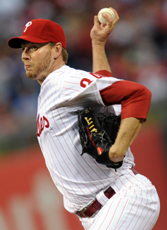 Roy Halladay has made at least 30 starts for six consecutive seasons. (Getty Images)