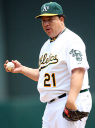 Bartolo Colon is a good bet to go if Oakland trades a starter. (Getty Images)