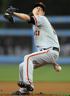 Tim Lincecum got himself into one more jam than he could handle on Wednesday. (AP)