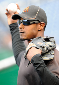 Adam Jones has eight homers and 17 RBIs in 19 May games. (Getty Images)