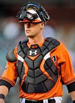 Matt Wieters is as prepared as anyone to call a game behind the plate. (US Presswire)