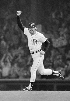 Kirk Gibson's second home run in Game 5 of the 1984 World Series remains an iconic moment in Detroit sports history. (AP)