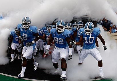 North Carolina will have to vacate all its victories from the 2008 and '09 seasons.