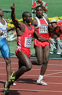Ben Johnson shocked American star Carl Lewis at the 1988 Seoul Games. (The Canadian Press)