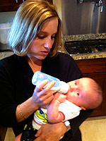 Kerri Strug became a mom to Tyler in March. (Yahoo! Sports)