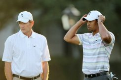 Tiger Woods with swing coach Hank Haney in 2010