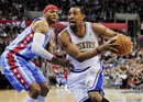 Minnesota Timberwolves forward Derrick Williams , right, gets by Los Angeles Clippers forward Kenyon Martin , left, in the second half of an NBA basketball game, Tuesday, Feb. 28, 2012, in Los Angeles. The Timberwolves won 109-97.
