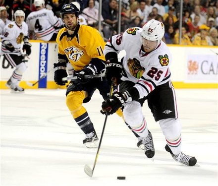 Chicago Blackhawks Left Wing Viktor Stalberg (25), Of Sweden, Brings