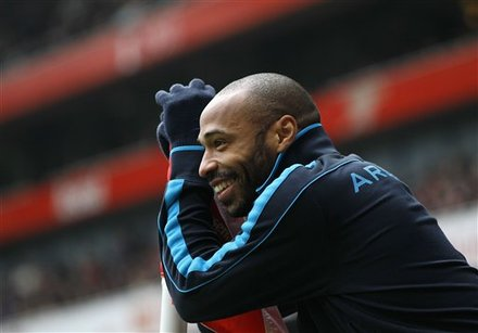 Aresenal's Thierry Henry Smiles