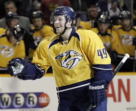 Nashville Predators Defenseman Ryan Ellis Celebrates