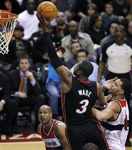 Miami Heat Guard Dwyane Wade (3) Shoots