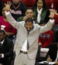 Mississippi Valley State head coach Sean Woods directs his team during the first half of an NCAA college basketball game against Wisconsin , Friday, Dec. 23, 2011, in Madison, Wis. Wisconsin won 79-45.