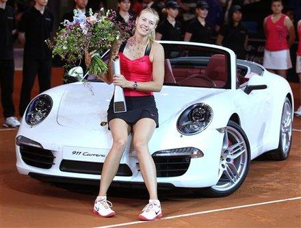 Russia's Maria Sharapova Sits