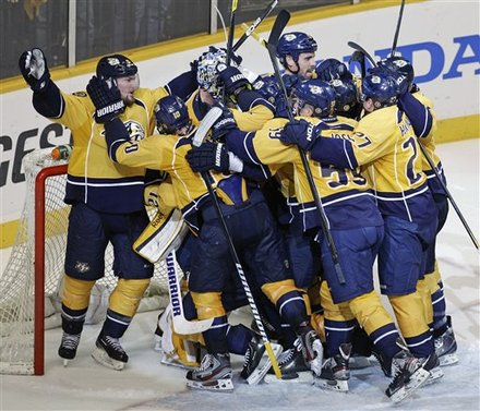 The Nashville Predators Celebrate