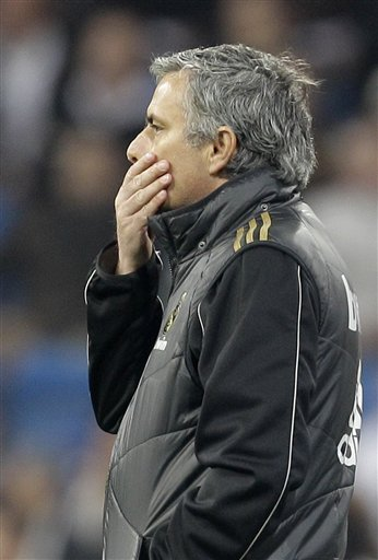 Real Madrid's Coach Jose Mourinho From Portugal Puts