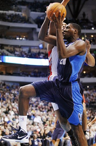 Dallas Mavericks Center Ian Mahinmi (28) Takes