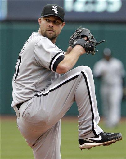 Chicago White Sox Starting Pitcher John Danks Pitches