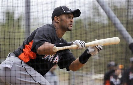 Miami Marlins' Emilio Bonifacio Works