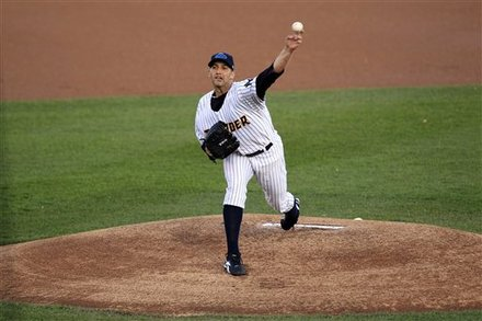 New York Yankees Pitcher Andy Pettitte Delivers