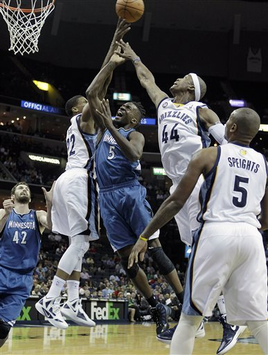 Minnesota Timberwolves Forward Martell Webster (5) Goes