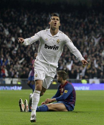 Real Madrid's Cristiano Ronaldo From Portugal Celebrates