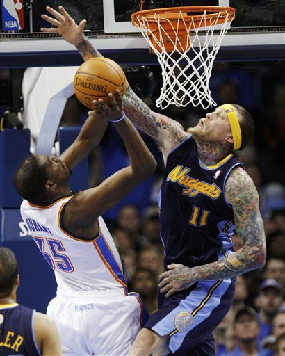 Denver Nuggets Center Chris Anderson (11) Blocks