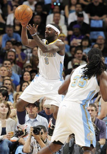 Denver Nuggets Guard Ty Lawson, Back, Takes