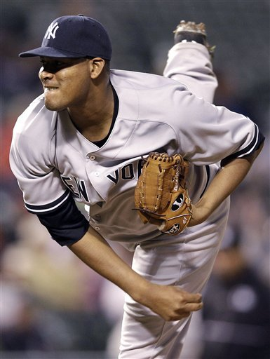 New York Yankees Starting Pitcher Ivan Nova Throws