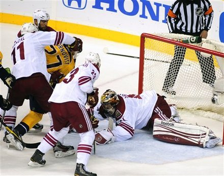 Phoenix Coyotes Goalie Mike Smith (41) Covers