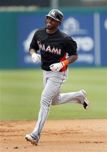 Miami Marlins' Jose Reyes Smiles