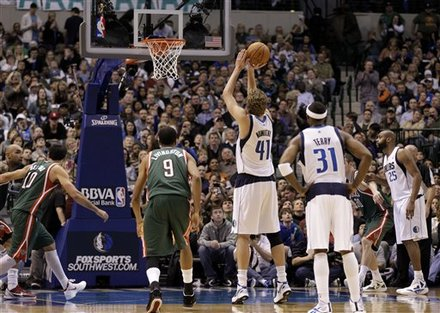 Dallas Mavericks Power Forward Dirk Nowitzki (41) Of Germany Shoots